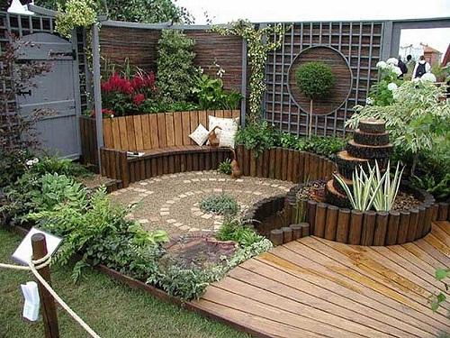 foto de decoracin de jardines rsticos