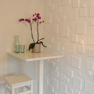 Decoración de interior con paneles 3d