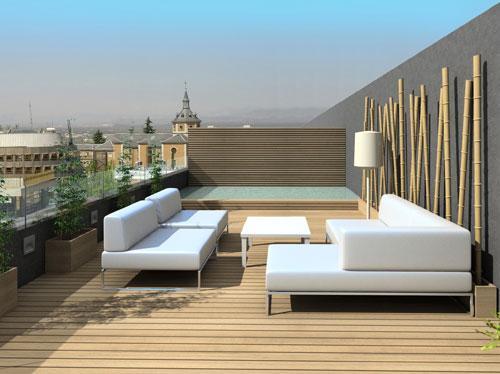 Imagen de terrazas aticos decoración