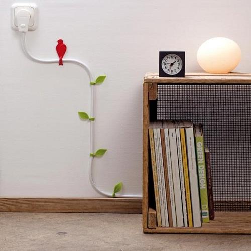 Imagen de como decorar los cables eléctricos de nuestra casa