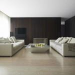 Diseño de interiores con cortinas al estilo minimalista