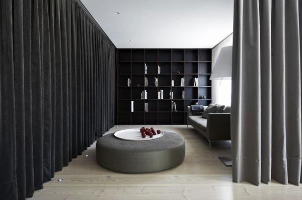 Diseño de interiores con cortinas al estilo minimalista (14)