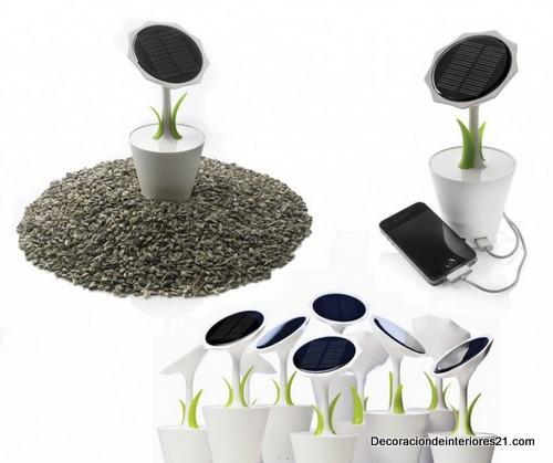 Decoración de jardines con flores fotovoltaicas (1)