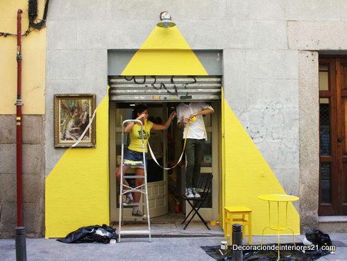 Como decorar la fachada de un restaurante vegetariano