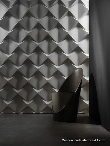 Decoración de paredes con paneles de cerámica reforzada