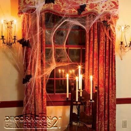 Decoracion del día de las brujas con velas