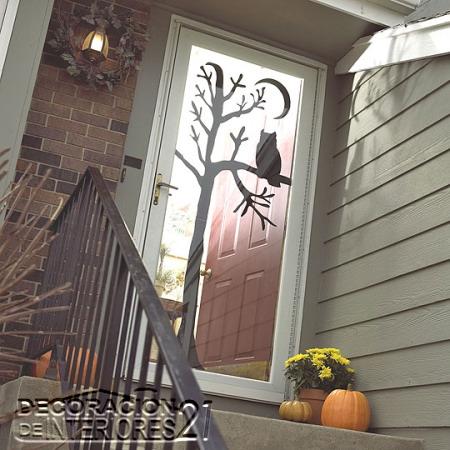 Decoracion ventanas dia de las brujas con buho