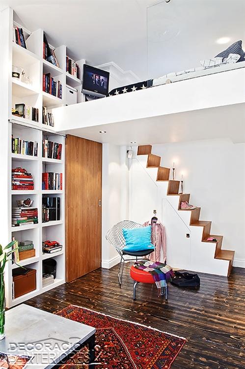 Mezzanine moderno en ambiente de miniapartamento  (18)