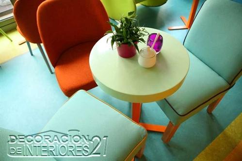 Decoración de cafetería Polaca con colores animantes (5)