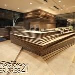 Shun Shoku Lounge mística iluminación de interiores por Kengo Kuma & Associates