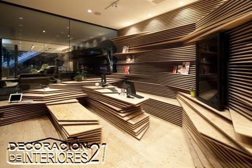 Shun Shoku Lounge mística iluminación de interiores por Kengo Kuma & Associates  (3)
