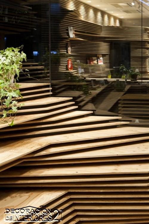 Shun Shoku Lounge mística iluminación de interiores por Kengo Kuma & Associates  (4)