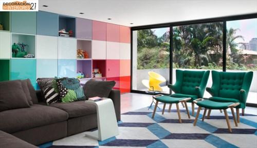 DM House una casa fresca llena de color juvenil (2)