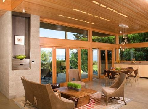 Decoración de interiores utilizando los exteriores