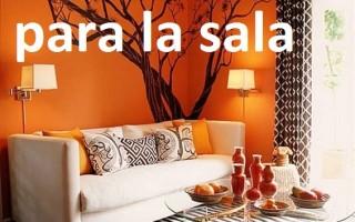 Muebles para la sala en color naranja