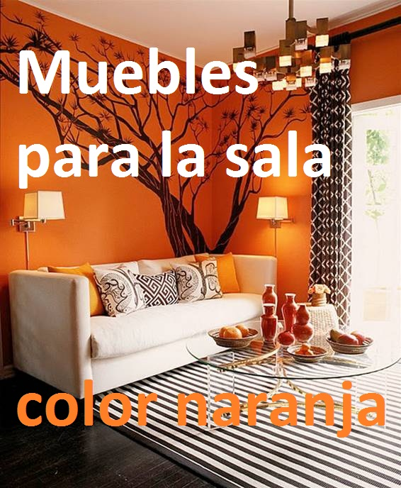 Decoracion pared color naranja