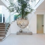 Decoración natural de una casa en los Ángeles California con amplias ventanas