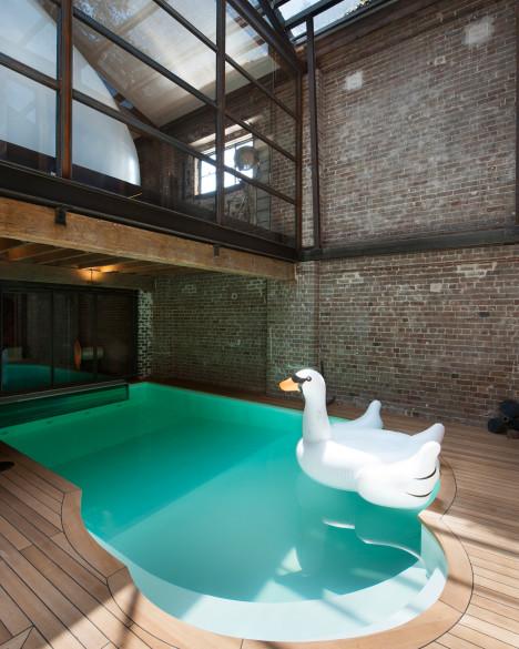 La piscina interior