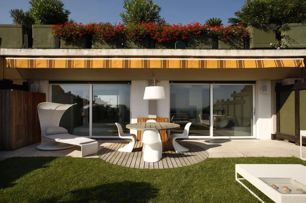 El patio de la casa
