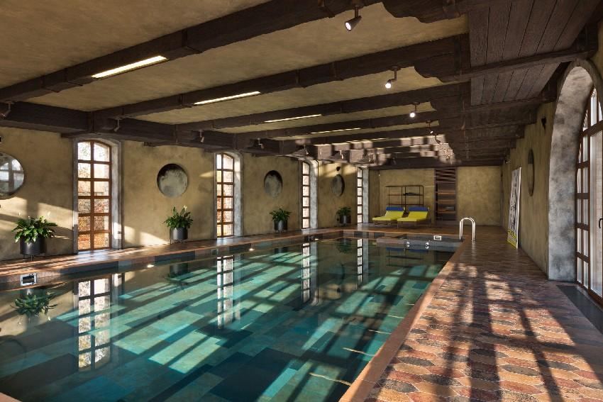 Una piscina moderna y al mismo tiempo natural
