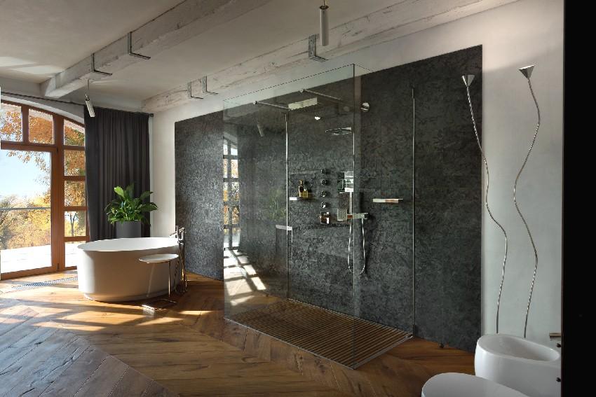 El baño es moderno y perfecto