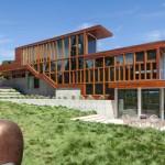 """Casa en forma de """"L"""" en California con excelentes  vistas interiores y exteriores"""