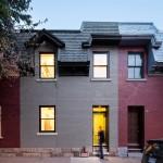 Madera recuperada para construir una nueva casa en Montreal, Canadá