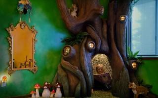 Este es un lugar de ensueño con dormitorios creados para que los niños tengan una aventura increíble