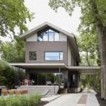 Casa en Missouri que exhibe sus materiales innovadores y métodos de diseño y decoración interior