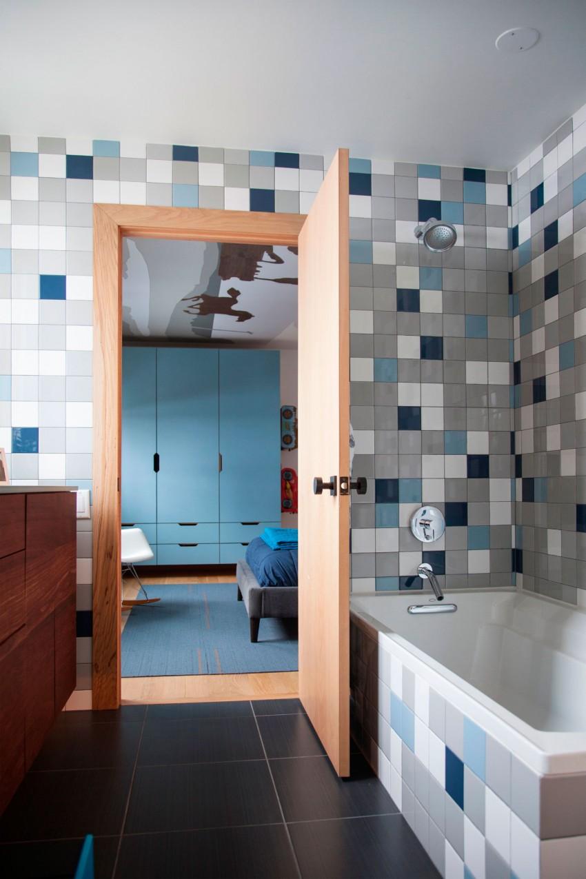 bonita decoración de azulejo