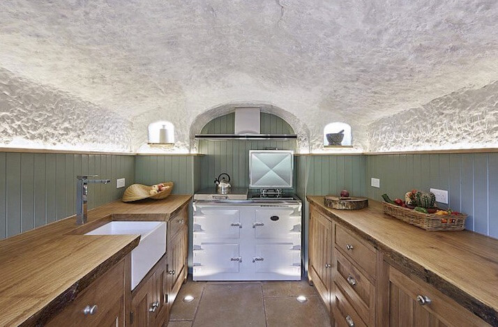 hermosa cocina de la cueva