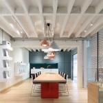 Particiones de malla de aluminio que definen los espacios  de una oficina-Industrial  en Alemania