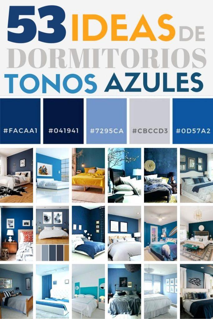 decoracion en color azul para dormitorios y habitaciones
