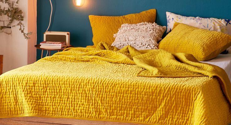 Dormitorio Azul y Amarillo: Colección +75 Fotos de Ejemplos