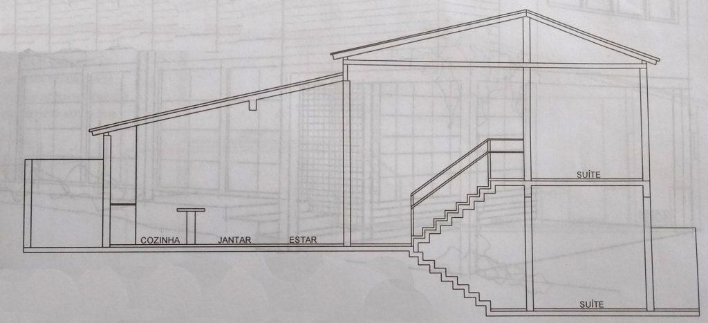 Plano de casa planta baja, construccion