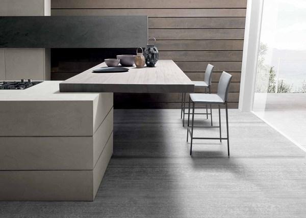 Cocinas modernas de cemento - Cocina moderna fabricada con cemento (10)