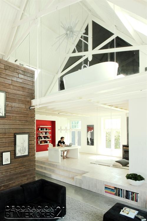 Mezzanine moderno en ambiente juvenil (5)