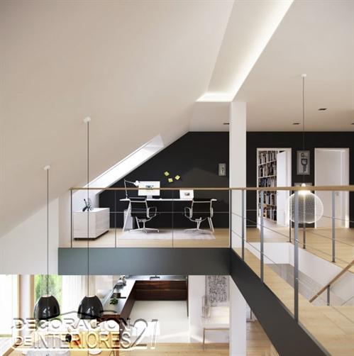 Mezzanine moderno en ambiente negro (12)