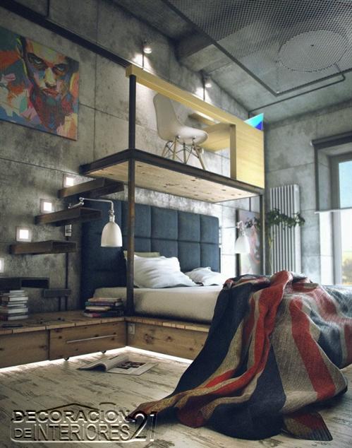 Mezzanine moderno en ambiente vintage UK (7)