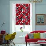 Cortinas y arte popular de Birmingham West Midlands Menton-Poppy