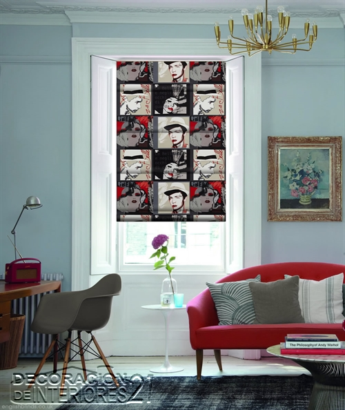 Cortinas y arte popular de Birmingham West Midlands Pop-Art-Vino