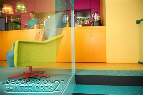 Decoración de cafetería Polaca con colores animantes (2)