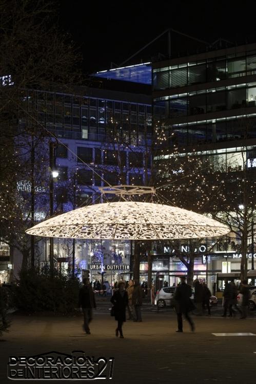 Ideas de decoración con luces navideñas en Berlín