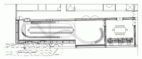 Decoración de interiores de la cámara de comercio de Eslovenia utilizando estructuras y plantas (2)