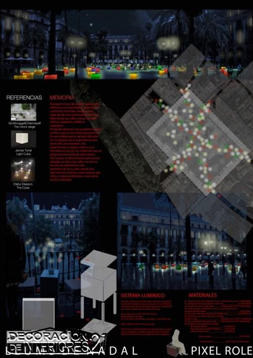 Propuesta triunfante para la iluminación Plaza Reial de Barce (6)