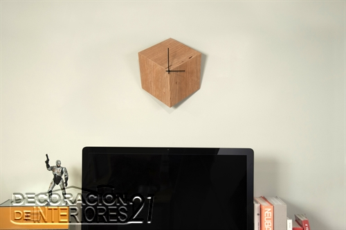 Reloj de pared cúbico ideal para decorar casas minimalistas y modernas (3)