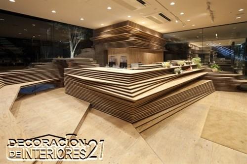Shun Shoku Lounge mística iluminación de interiores por Kengo Kuma & Associates  (1)