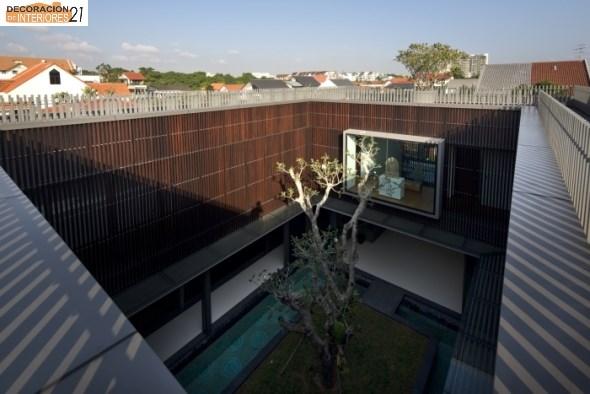 Decoración de piscinas con árboles