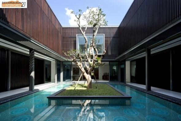 Decoración de piscinas con árboles (7)