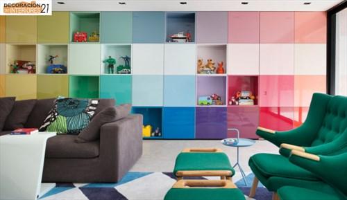 DM House una casa fresca llena de color juvenil (3)